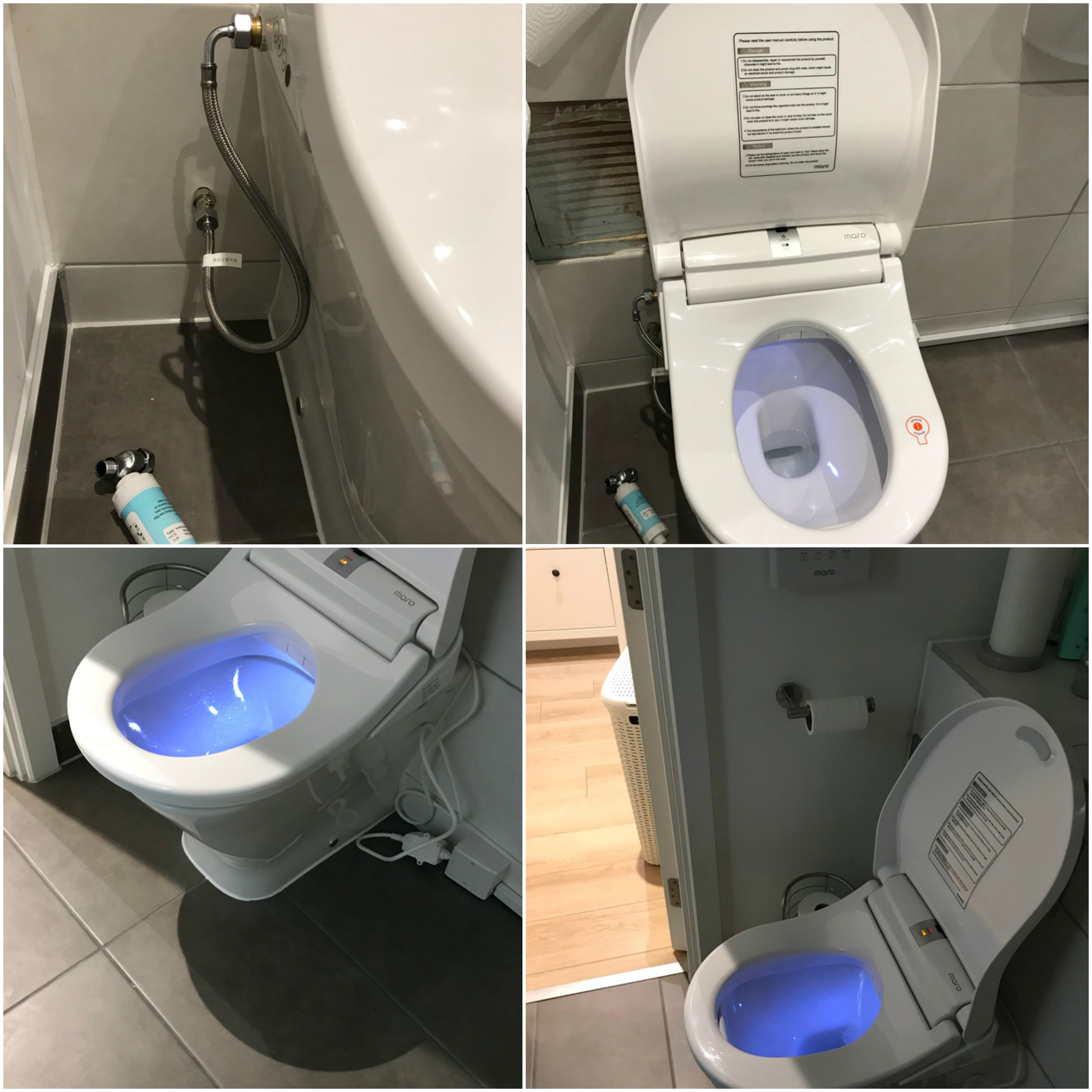 Maro D'Italia Di600 Duch WC Aufsatz montage bodenstehend  WC