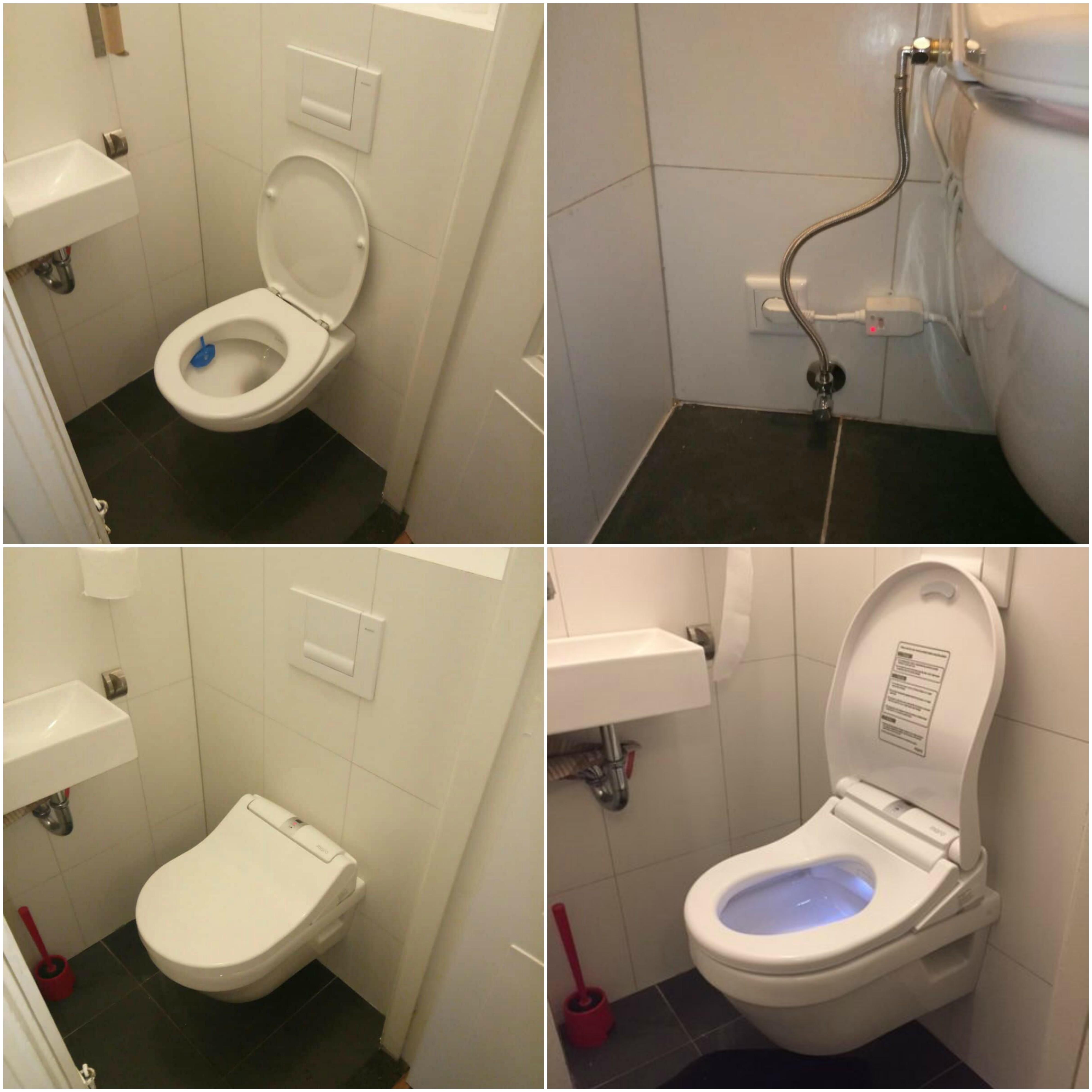 Maro D'Italia Di600 Dusch-WC Aufsatz Montage