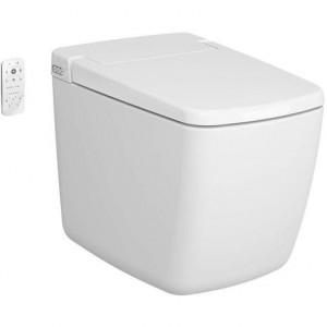 Vitra V-Care Prime Rim-Ex Dusch-WC bodenstehend Komplettanlage