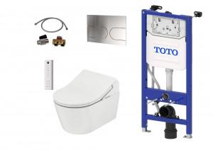 Komplett Set: TOTO Washlet RX Ewater automatische Spülung + TOTO WC RP + TOTO Spülkasten + TOTO Betätigungsplatte + TOTO Anschlusset