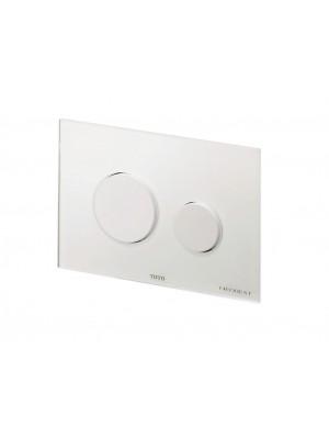 TOTO Drückerplatte Glass weiß - E00003