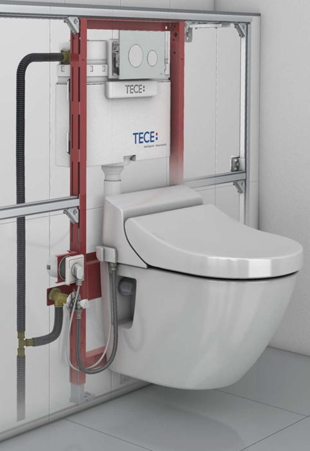 washlet tece installation