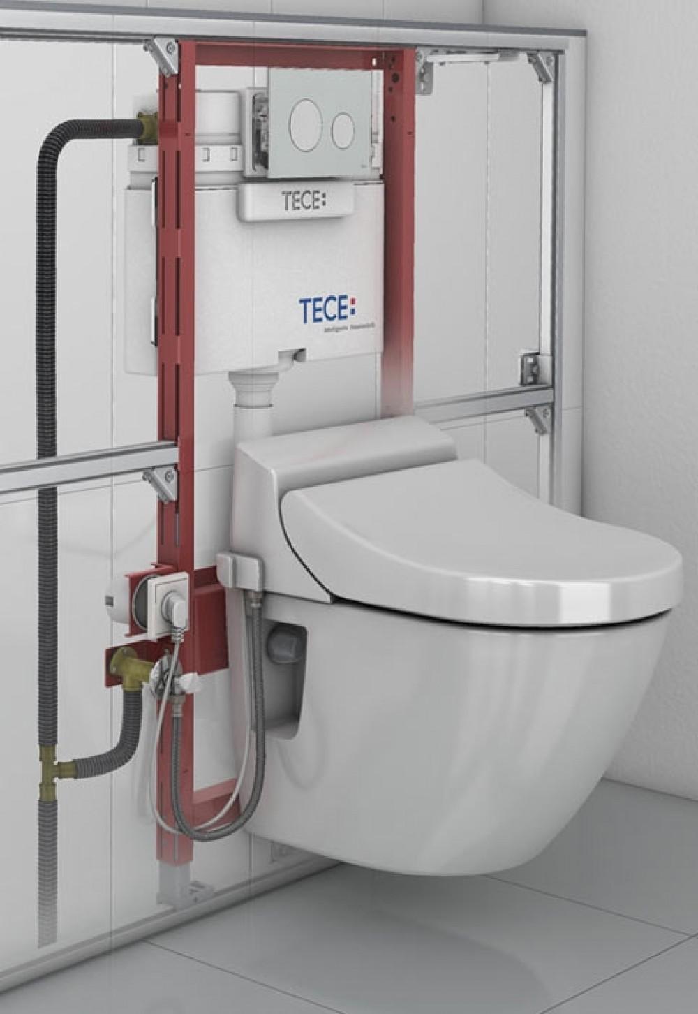 toto washlet ek 2.0 seitlich + tece installation