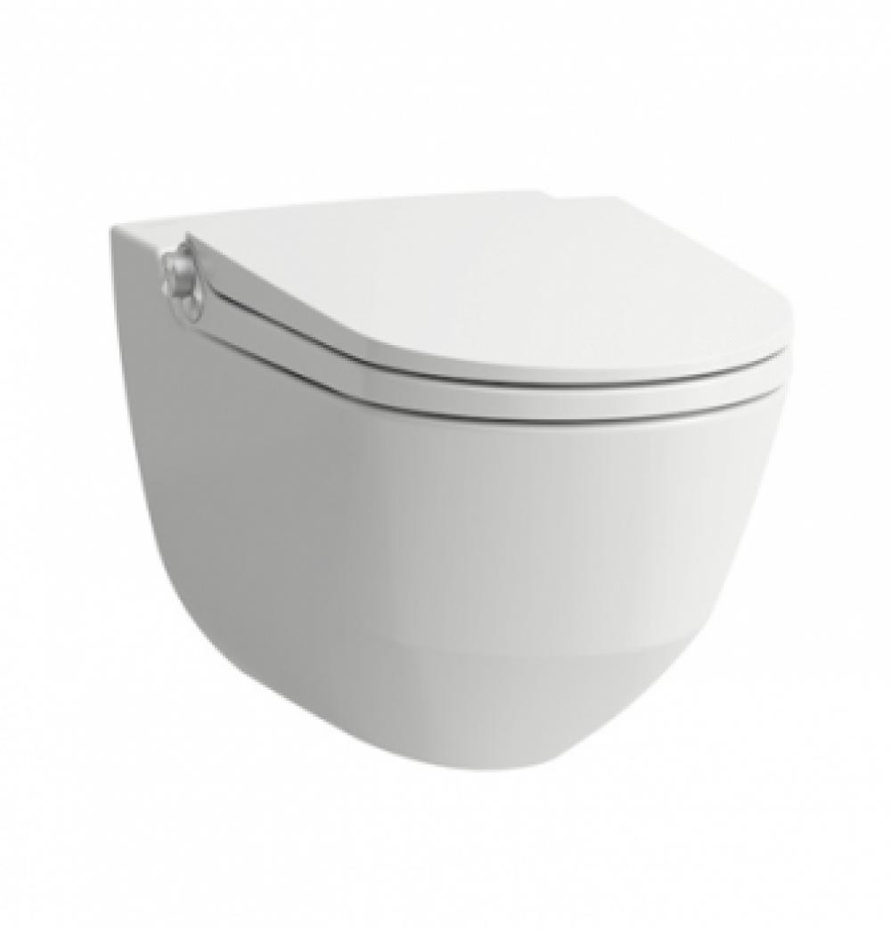 Dusch-WC-Komplettanlage LAUFEN CLEANET RIVA Rimless, wandhängend, weiss