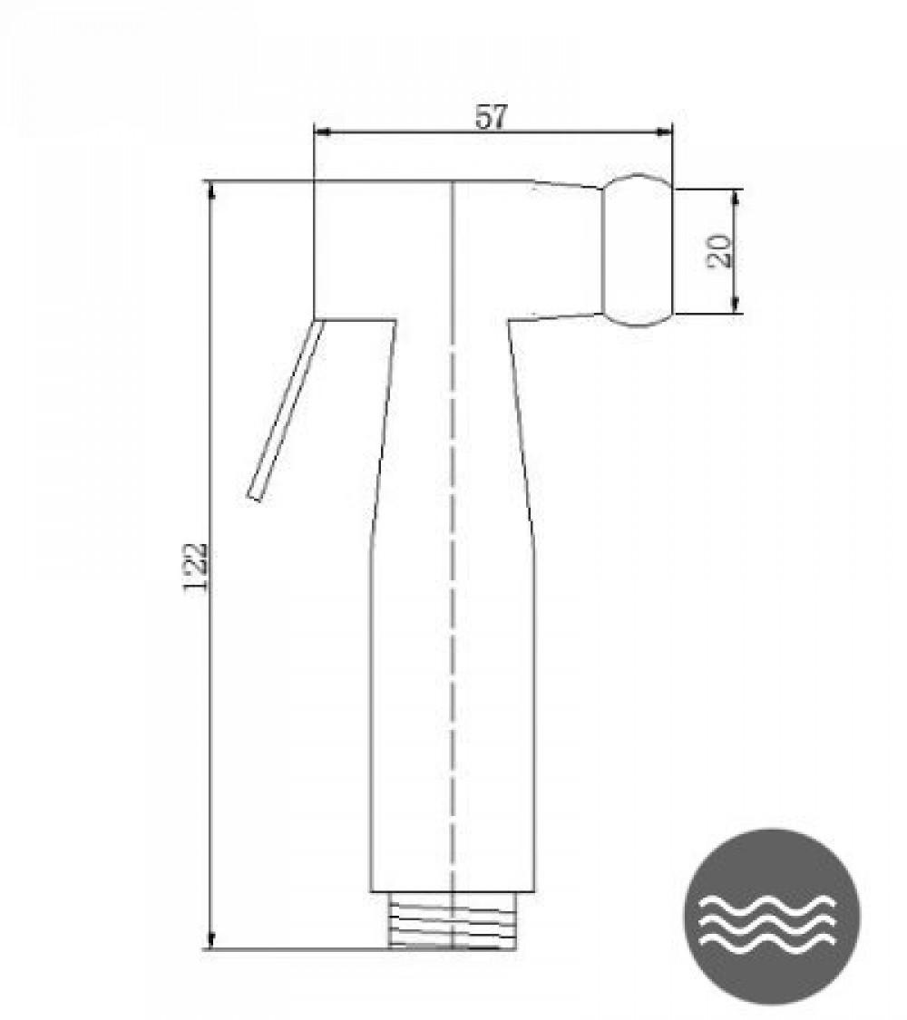 technische zeichnungen bidetbrause maro luxsta