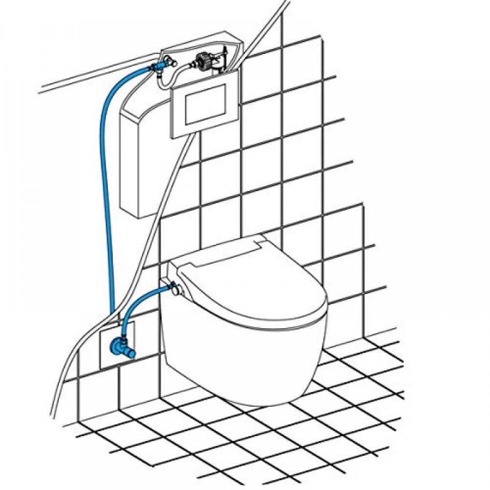 wasseranschluss über betätigungsplatte maro fp104 längliches wc sitz