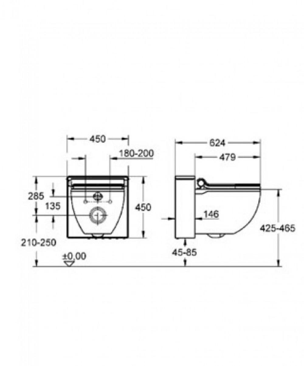 Toilette maße  Grohe Sensia IGS Dusch Wc