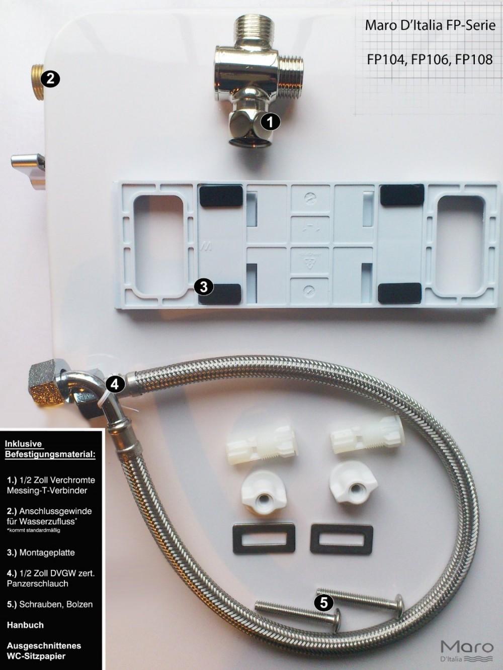 Maro fp series Dusch wc montage installation set
