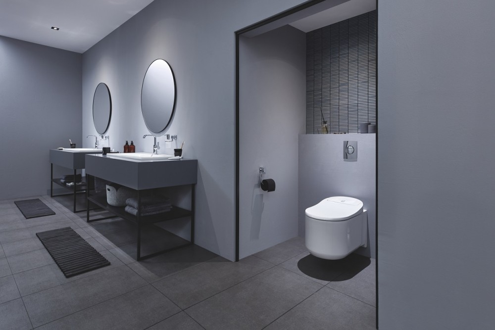 Das GROHE Sensia Arena Dusch-WC – ultimativer Komfort und intelligente Selbstreinigungstechnologie