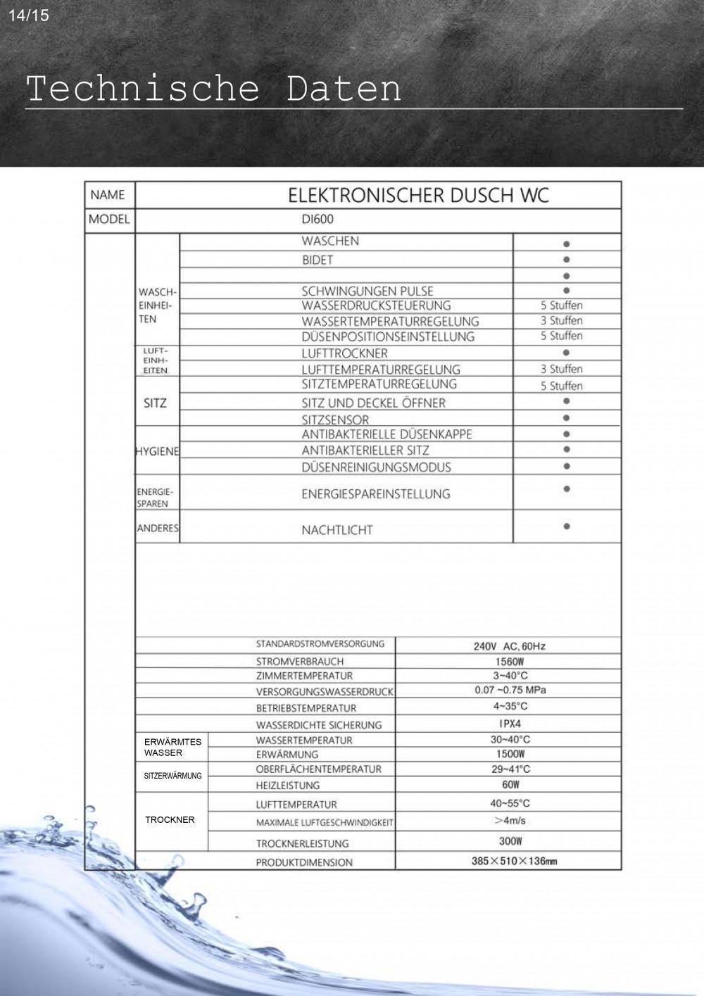 maro d italia di600 technische daten