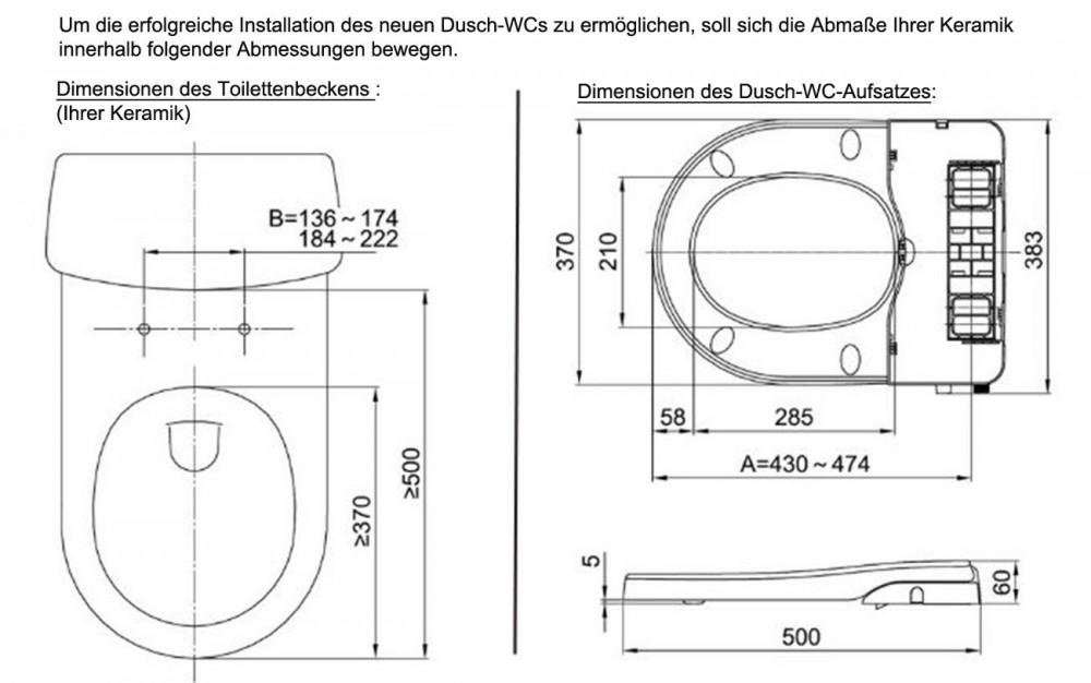 maro d 39 italia fp104 stromlos dusch wc aufsatz toto cf. Black Bedroom Furniture Sets. Home Design Ideas
