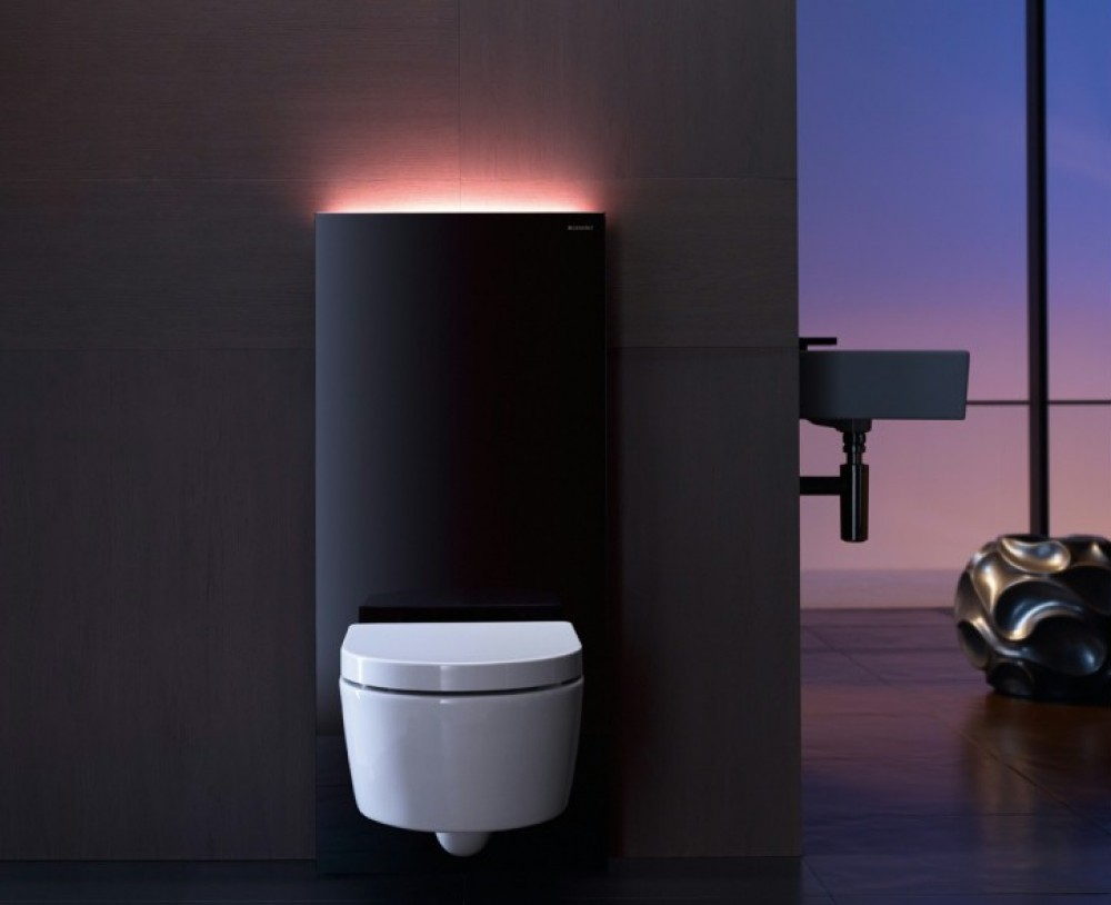 Geberit Monolith Plus Sanitärmodul für Wand-WC H: 101 cm schwarz #131.222.SJ.1 tooaleta