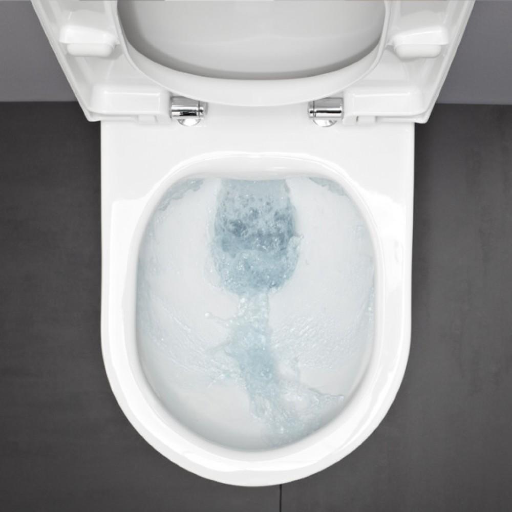 Laufen pro Wand-Tiefspül-WC L: 53 spülrandlos weiß mit Clean Coat