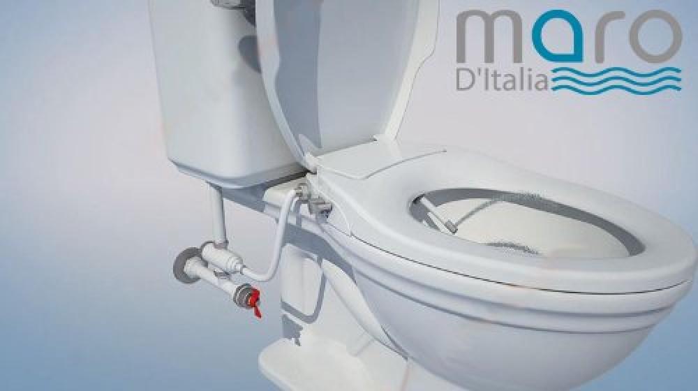 maro d 39 italia fp108 dusch wc aufsatz rund knapp stromlos messing gewinde. Black Bedroom Furniture Sets. Home Design Ideas