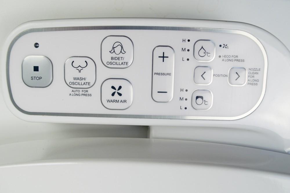 mit seitlichen bedienung dusch wc aufsatz