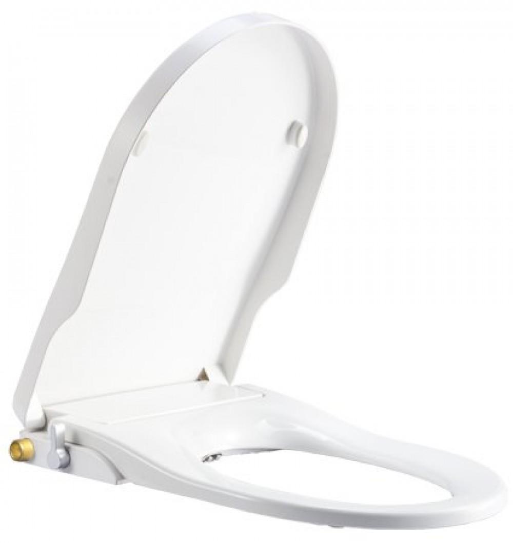 WC-Sitz mit integriertem Bidet CG109 - mit Reinigungsfunktion für Damen für optimale Intimpflege