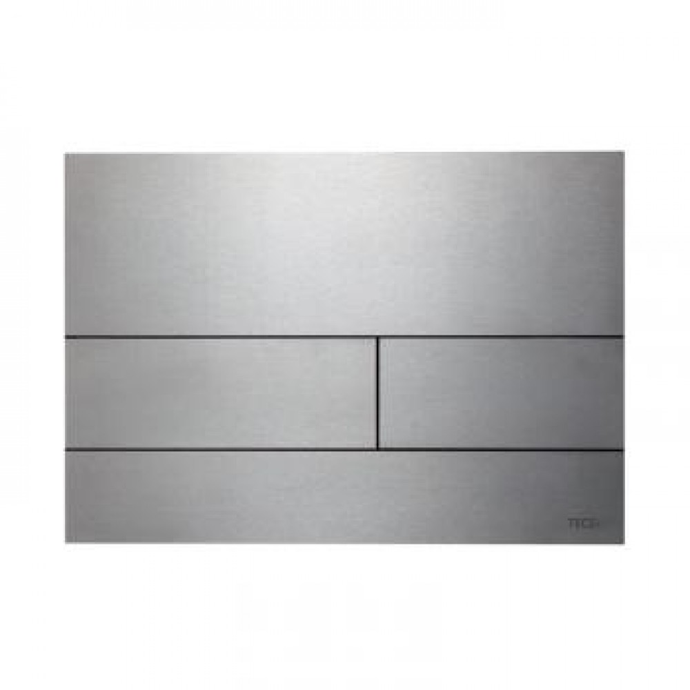 TECE square II Metall WC-Betätigungsplatte für 2-Mengen-Technik edelstahl gebürstet  9240830