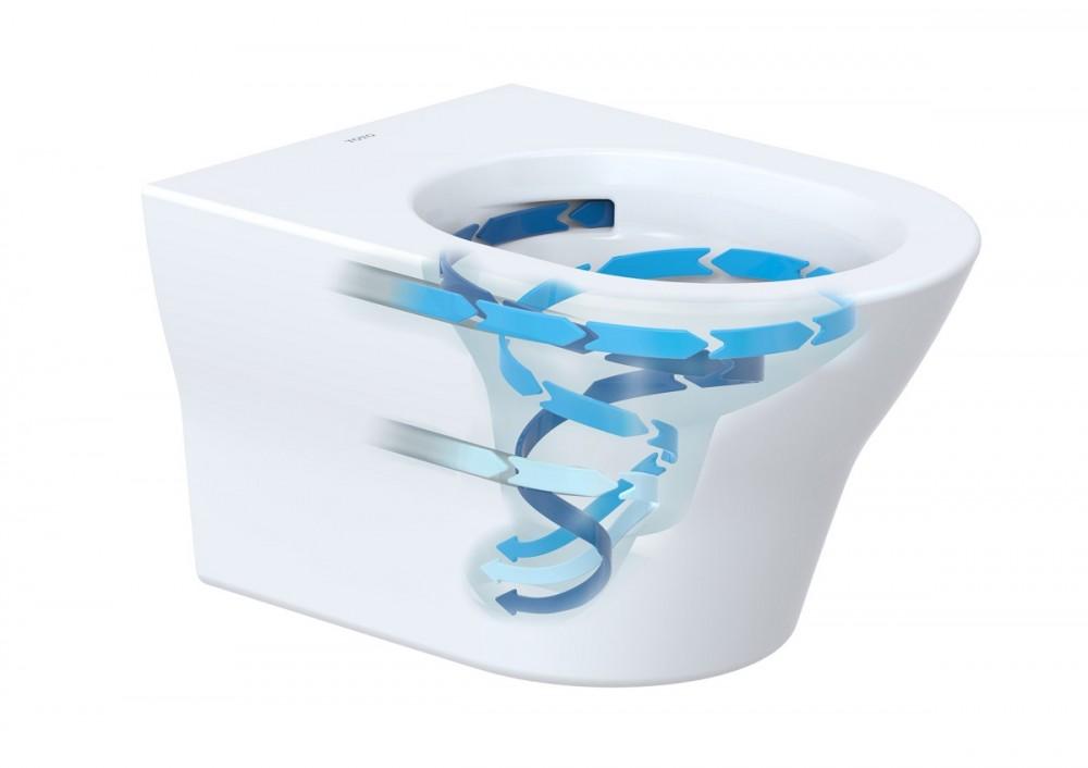 toto washlet ohne spülrand , offener spülrand rimless