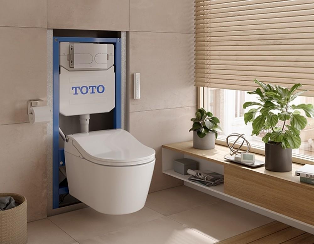 automatische spülung toto vorwandelement dusch wc washlet rw toto
