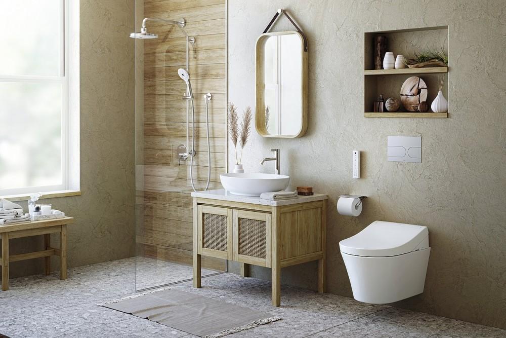 WASHLET RG Lite TCF34120GEU mit seitlichen Anschlüssen japanische Toilette