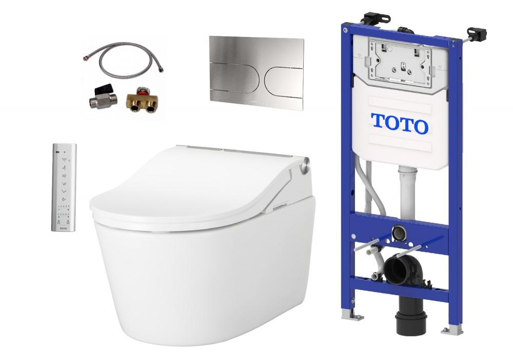 komplettset TOTO WASHLET RW automatische Spülung + TOTO WC RP + TOTO Spülkasten + TOTO Betätigungsplatte + TOTO Anschlusset