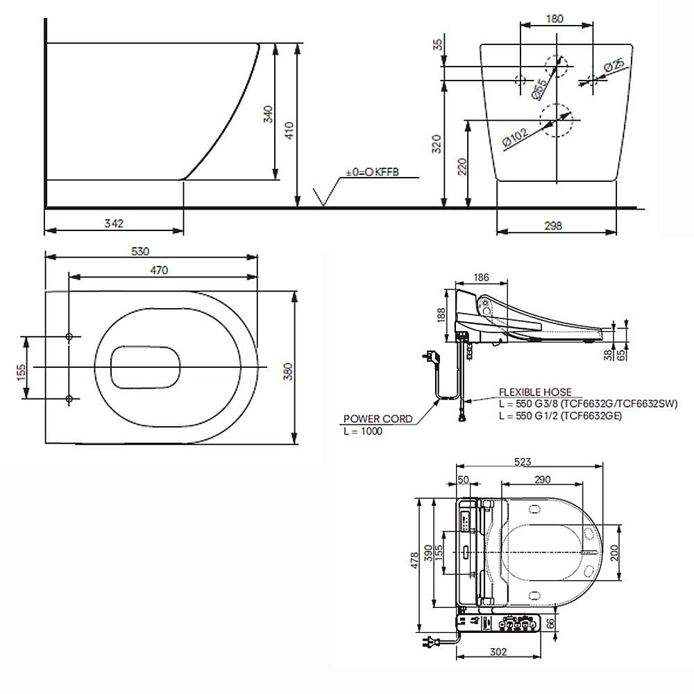 technische zeichnung toto