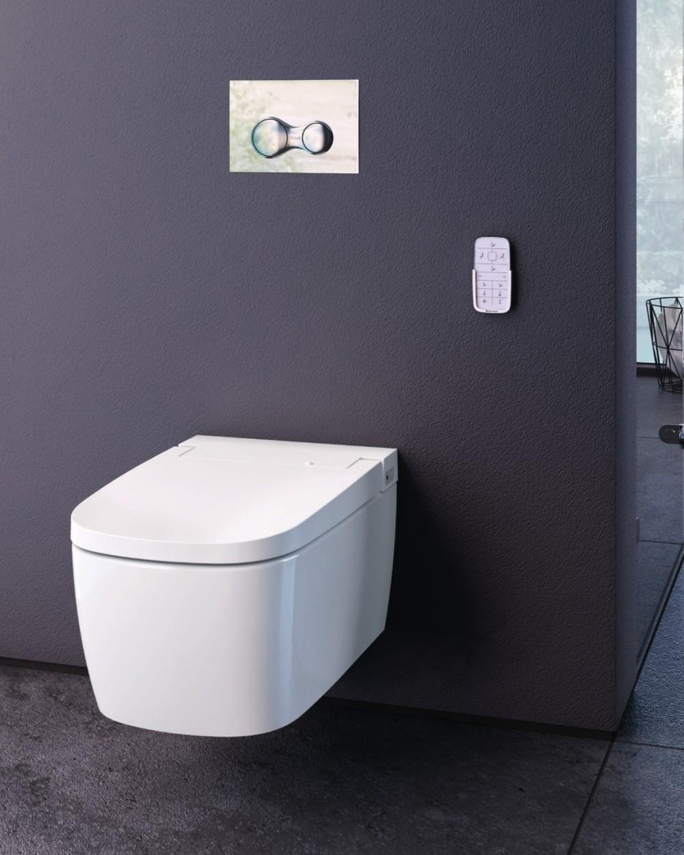 VitrA V-care Comfort Wand-Dusch-WC mit WC-Sitz 5674B403-6196