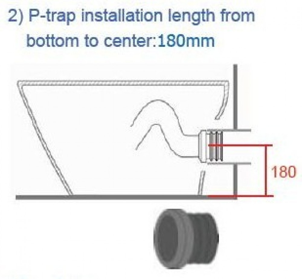 vovo princess pb707s dusch wc Installationsanleitung Bodenabfluss