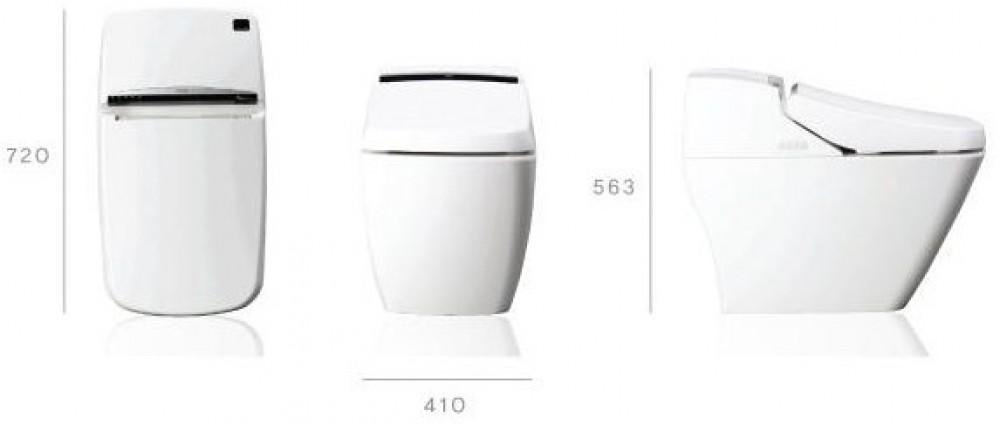 Dusch-WC VOVO PB707S Technische Zeichnung