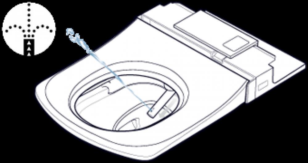 toto washlet WARMWASSERDUSCHE Individuell regulierbares Stabdüsensystem mit Selbstreinigungsfunktion