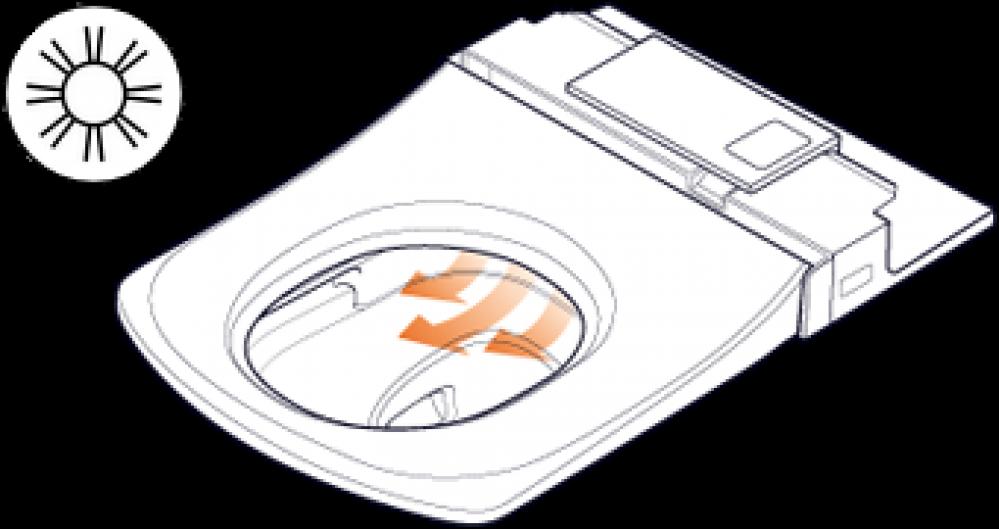 Nach der Reinigung mit der Warmwasserdusche sorgt der individuell einstellbare Trockner für ein trockenes und sauberes Gesamtgefühl trockner