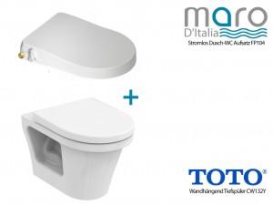 toto cw132Y wc randlose fp104 stromlos ohne strom dusch wc aufsatz