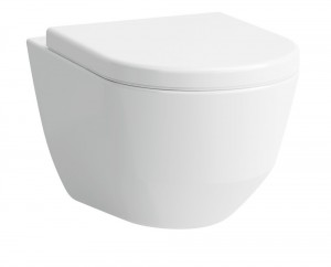 Laufen pro Wand-Tiefspül-WC L: 53 spülrandlos weiß mit Clean Coat 8209664000001