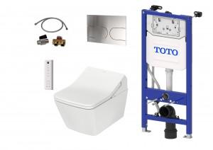 Komplett Set: TOTO WASHLET SX Ewater automatische Spülung + TOTO WC SP + TOTO Spülkasten + TOTO Betätigungsplatte + TOTO Anschlusset